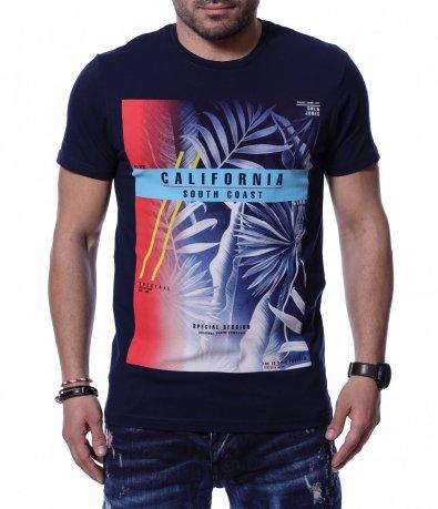 Тениска с голяма апликация 12222