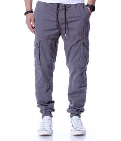 Стилен карго панталон с акцент 12228