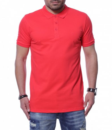 Разноцветна тениска с яка 12254