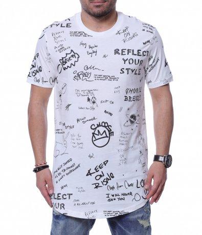 Тениска с надписи 12260