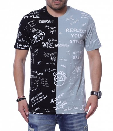 Двуцветна тениска 12261