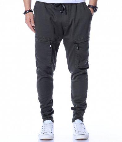 Еднотонен карго панталон 12287