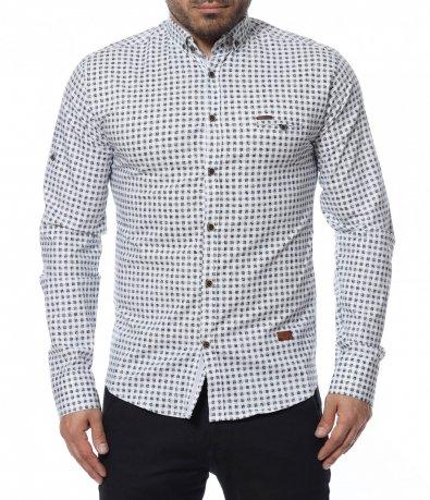 Риза с принт каре 12298