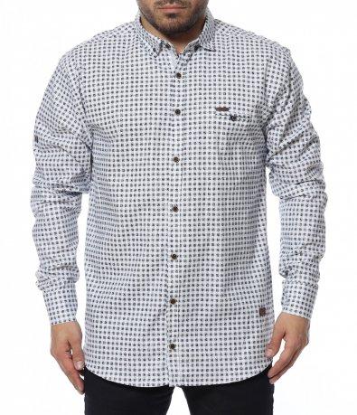Карирана риза oversize 12301