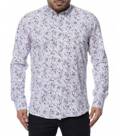 Риза с цветен десен 12306