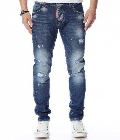 Сини дънки с кръпки 12338