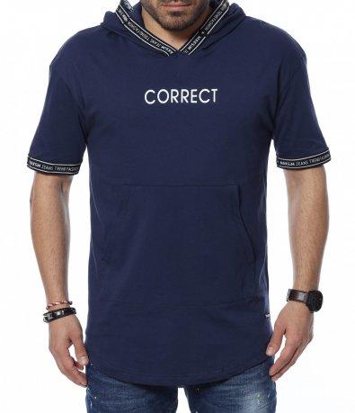 Тениска с качулка 12358