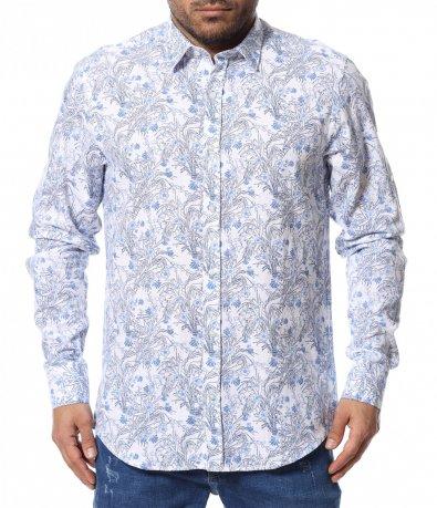 Риза с флорален принт 12377