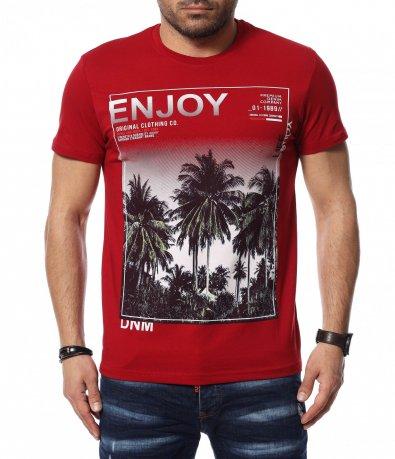 Тениска с голяма щампа 12395