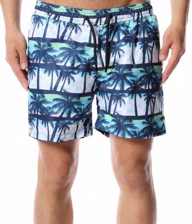 Плажни шорти с палми 12430