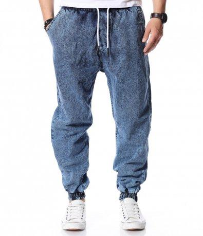 Сини дънки с връзки 12450