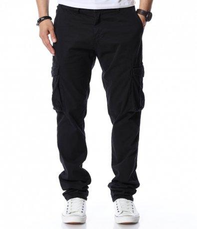 Едноцветен карго панталон 12227
