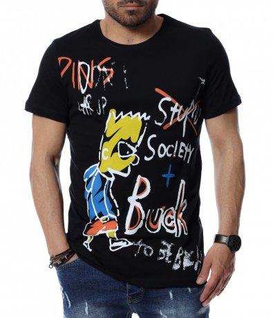 Тениска с цветен дизайн 12497