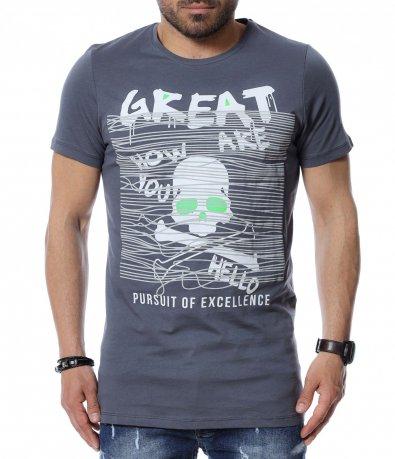 Тениска с ефектен дизайн 12498