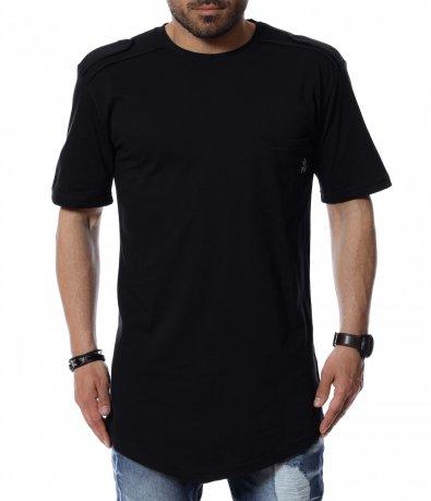 Тениска с издължен дизайн 12512