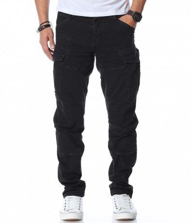 Класически карго панталон с нашивка 12474