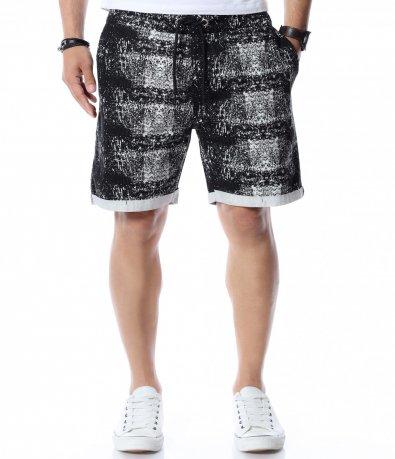 Къси панталони с нестандартен десен 12544