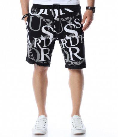Къси панталони с интересен принт 12545