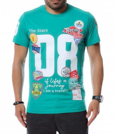Тениска с голяма щампа 12577