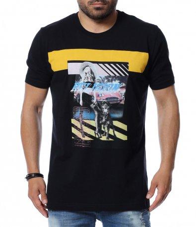 Тениска с клоритна щампа 12622