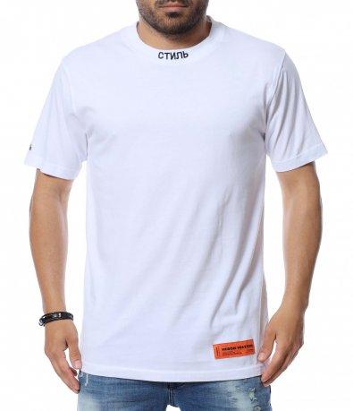 Изчистена тениска с емблема 12624