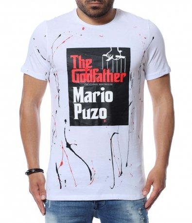 Тениска с надпис 12634
