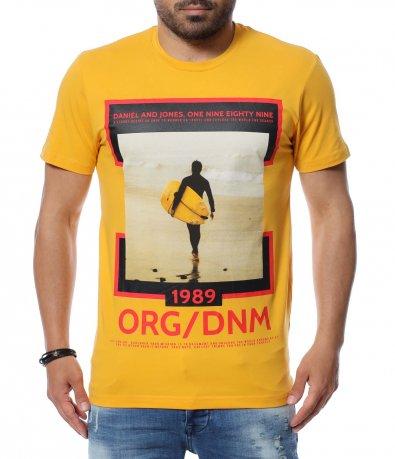 Тениска с акцентираща щампа 12635