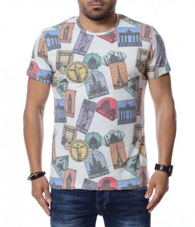 Тениска с принт 12659