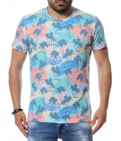 Тениска с летен десен 12658