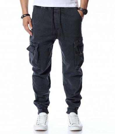 Дънкови карго панталони 12732