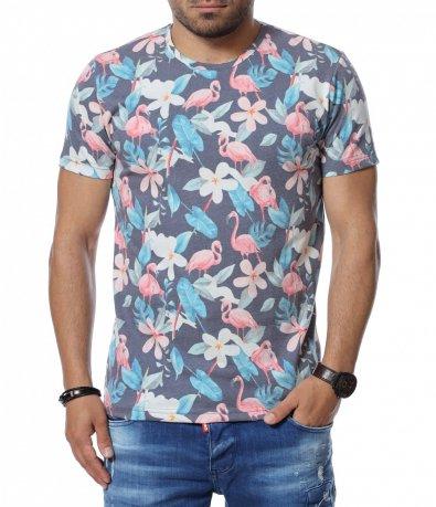 Лятна тениска с фламинго 12742