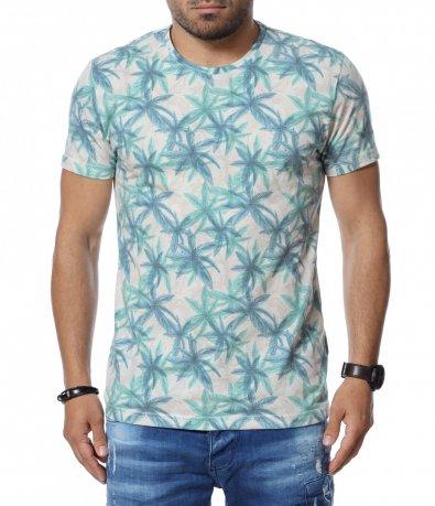 Тениска с тропически десен 12744