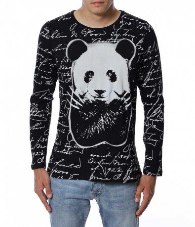 Спортен модел блуза с панда 12930