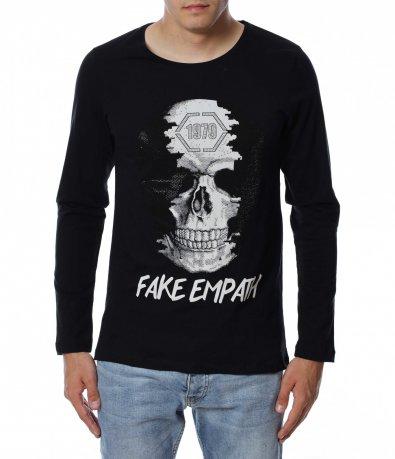 Ексцентрична тениска с череп 12939