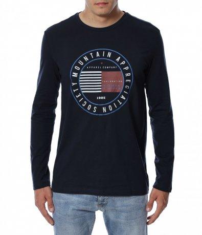 Памучна тениска с дълъг ръкав 12951