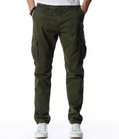 Едноцветен карго панталон 12960