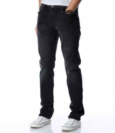 Черен дънков панталон 13060