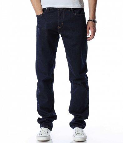 Едноцветен дънков панталон 13066