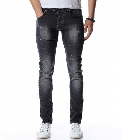 Сив дънков панталон 13078