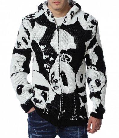 Плетена жилетка с панди 13110