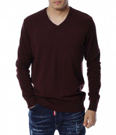 Пуловер с V образно деколте 13135