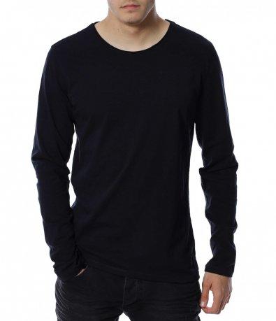 Памучна едноцветна блуза 13142