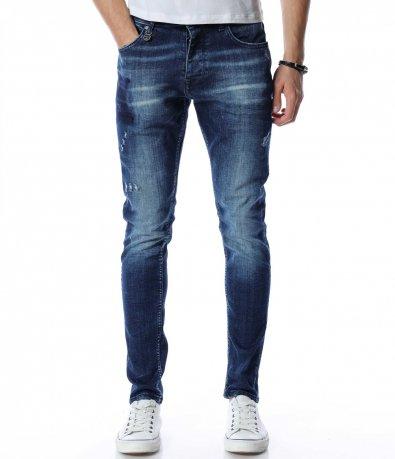Slim fit дънки в син цвят 13153