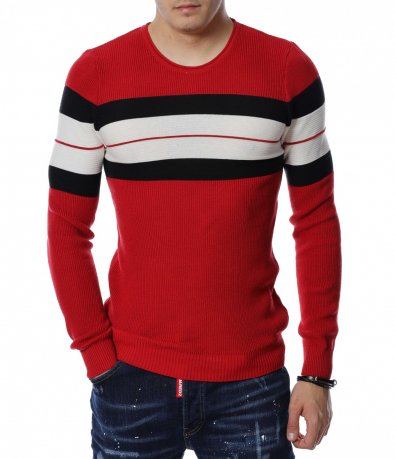 Пуловер с дизайн 13160