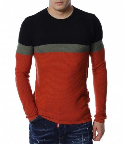 Пуловер в три цвята 13162