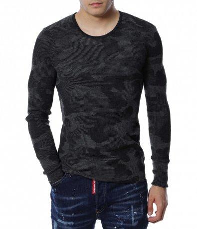 Камуфлажен пуловер 13178