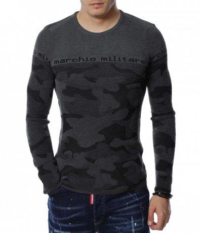 Камуфлажен пуловер 13173