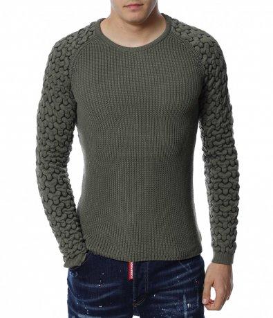 Едноцветен пуловер 13175