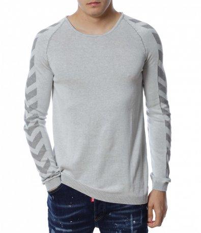 Едноцветен пуловер 13176