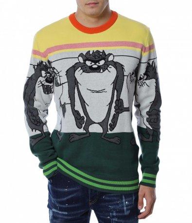 Цветен пуловер 13172